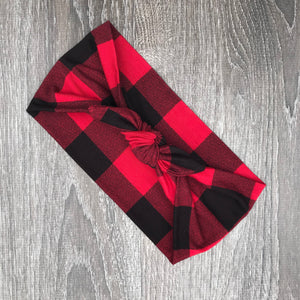 Red Buffalo Plaid 3-in-1 Topknot™