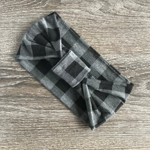 Heather Grey Buffalo Plaid 3-in-1 Topknot™