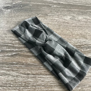 Heather Grey Buffalo Twist Headband