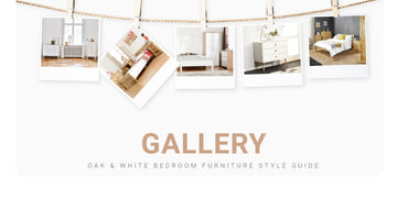Oak & White Bedroom Furniture Style Guide