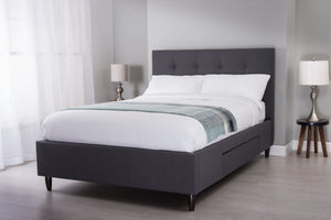 Cadot Dormire Grey Upholstered Bed Frame with Storage