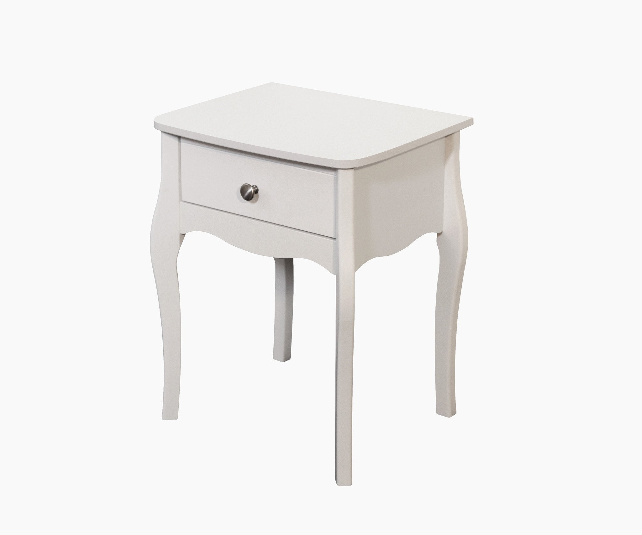 separation shoes 7fadd 86314 Baroque White 1 Drawer Nightstand