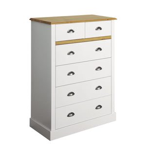 Sandringham White 2+4 Drawer Chest