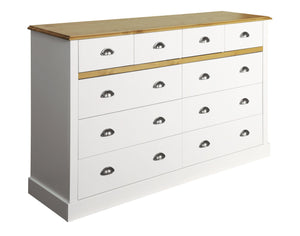 Sandringham White 4+6 Drawer Wide Chest