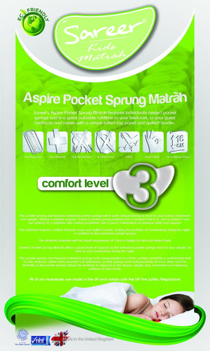 Aspire Pocket Sprung Matrah Mattress