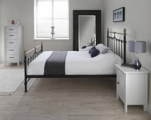 Cadot Luxury Victorian Inspired Black Metal Bed