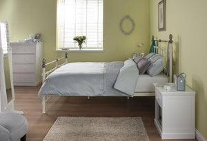 Cadot Luxury Victorian Inspired Cream Metal Bed
