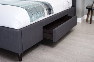 Cadot Dormire Grey Upholstered Bed with Storage
