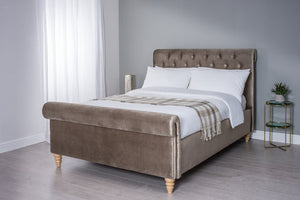 Cadot Gallia Velvet Upholstered Bed Frame