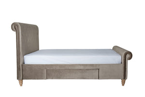 Cadot Gallia Velvet Upholstered Bed with Storage