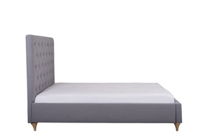 Cadot Grey Mist Luxury Upholstered Fabric Bed