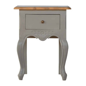 French Style 1 Drawer Bedside