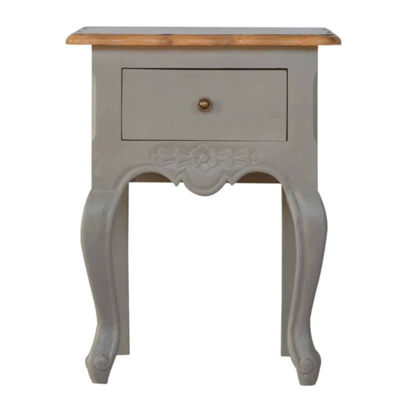 French Style 1 Drawer Bedside Cabinet
