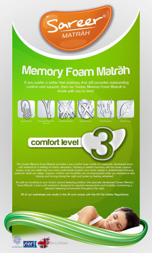 Sareer Kids Memory Foam Matrah Mattress - 5