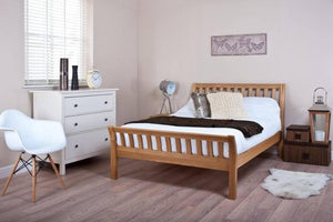 Cadot Luxury Curved Oak Bed Frame