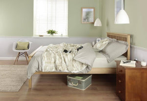 Cadot Luxury Oak Bed Frame With Plinth - 2