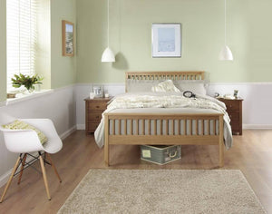 Cadot Luxury Oak Bed Frame With Plinth - 3