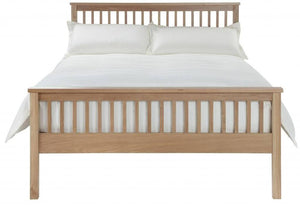 Cadot Luxury Oak Bed Frame With Plinth - 5
