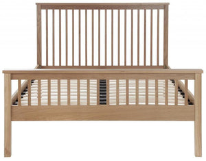 Cadot Luxury Oak Bed Frame With Plinth - 6