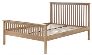 Cadot Luxury Oak Bed Frame With Plinth - 8