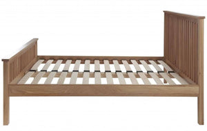 Cadot Luxury Oak Bed Frame With Plinth - 7