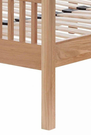 Cadot Luxury Oak Bed Frame With Plinth - 9