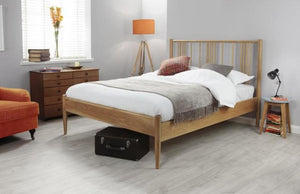 Cadot Luxury Oak Spindle Bed Frame - 1