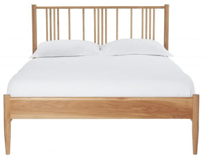 Cadot Luxury Oak Spindle Bed Frame - 5