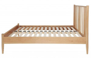 Cadot Luxury Oak Spindle Bed Frame - 9