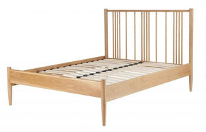 Cadot Luxury Oak Spindle Bed Frame - 7
