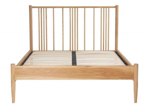 Cadot Luxury Oak Spindle Bed Frame