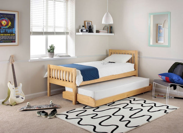 3' Single Bed Frame and Trundle Guest Bed with (Optional) Mattresses - 1