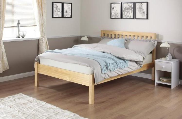 Buy cadot luxury pine shaker style bed frame bb for Exotic bed frames