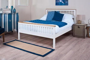 Cadot Luxury Minerve White and Oak Bed Frame