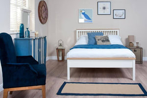 Cadot Luxury Montreal White and Oak Bed Frame