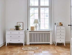 Baroque White 3 Drawer Wide Chest