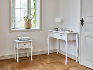 Baroque White 1 Drawer Vanity Table