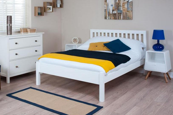 Cadot Luxury White Shaker Style Bed Frame