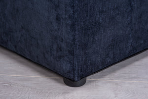 Cadot Midnight Blue Upholstered Blanket Box