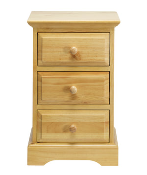 Birlea Suffolk 3 Drawer Pine Bedside