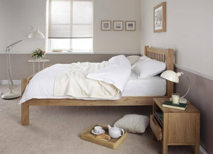 Cadot Luxury Chunky Oak Bed Frame