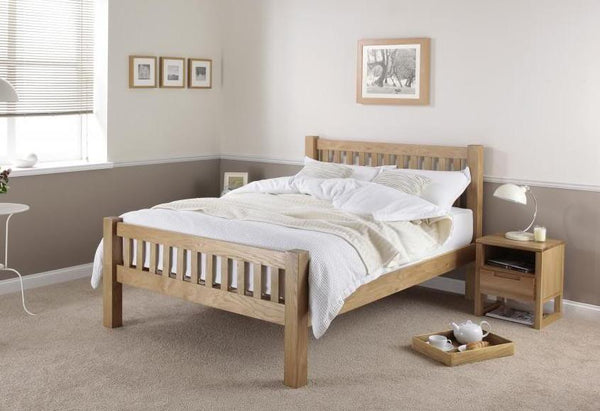 Cadot Luxury Ayton Chunky Oak Bed Frame