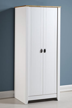 Ludlow White & Oak 2 Door Double Wardrobe