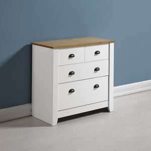 Ludlow White & Oak 2+2 Drawer Chest