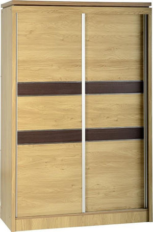 Calista 2 Door Sliding Wardrobe in Oak Effect Veneer