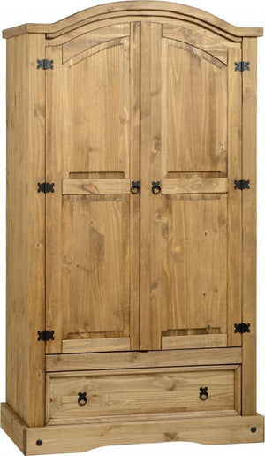 Corona 2 Door 1 Drawer Double Wardrobe - 1