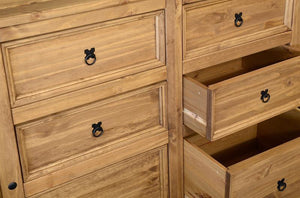 Corona Waxed Pine 6 Drawer Chest of Drawers