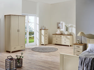 Norfolk Cream and Oak 5 Drawer Narrow Chest