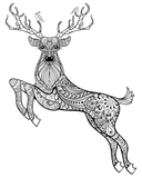 Adult Coloring Book: Forest Spirit: 21 Animal Patterns - Ebooksy