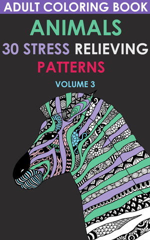 Adult Coloring Book. Animals. 30 Stress Relieving Patterns   Volume 3 - best books on Ebooksy